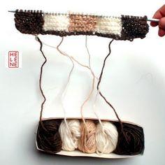Hélène Magnússon - Knitting news from Iceland: Icelandic intarsia knitting: yarn management
