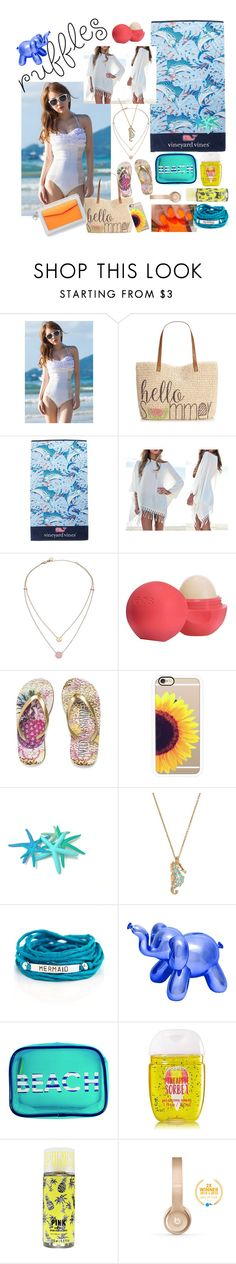 """""""Ready for Those Summer Ruffles"""" by fundipandskittles ❤ liked on Polyvore featuring Style & Co., Vineyard Vines, Michael Kors, Eos, Christian Dior, Casetify, Kate Spade, Blooming Lotus Jewelry, MACBETH and Beats by Dr. Dre"""