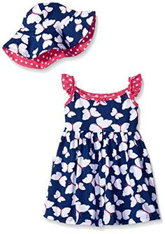 Gerber Little Girls Toddler TwoPiece Sundress and Hat Set Butterfly 3T -- You can get additional details at the image link.Note:It is affiliate link to Amazon. #65likes