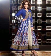 Buy Blue & Off White Diya Mirza Anarkali Salwar Kameez