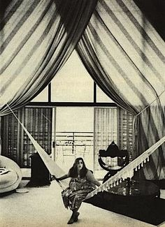 Cass Elliot in her Laurel Canyon pad