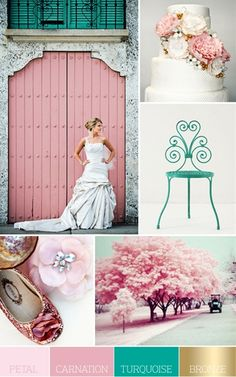 Shabby chic color palette - Click image to find more weddings posts