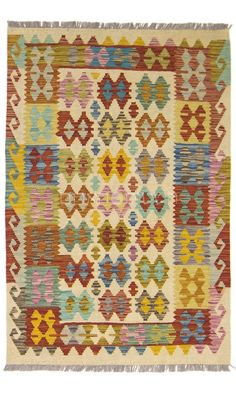 Items similar to SALE Afghan Kilim Rug Old Style Carpet Area Rug Living Room Handmade Colorful on Etsy Geometric Symbols, Living Room Area Rugs, Kilim Rugs, Bohemian Rug, Color Schemes, Hand Weaving, Carpet, Handmade, Etsy
