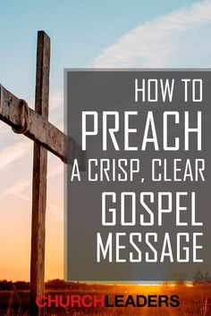 The gospel is the greatest message we have for the world and here's how to preach a clear gospel message that people will respond to. Church Outreach, Church Fellowship, Four Gospels, Bible Study Notebook, Spiritual Disciplines, Bible Notes, Perspective On Life, Bible Teachings, Bible Knowledge