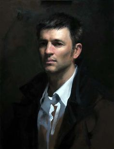 Aaron by Shane Wolf, oil on canvas 65x40 cm