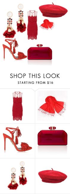 """""""Untitled #3829"""" by bellagioia ❤ liked on Polyvore featuring Naeem Khan, RGLT Scarves, Aquazzura, Judith Leiber, Tory Burch and Brixton"""