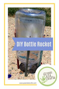 What do you do with all those empty plastic bottles when you're done? Do you toss them in the trash, or better yet, the recycle bin? You can save a bottle or two for a fun STEM (Science, Technology, Engineering, Math) project. Get outdoors and make a DIY bottle rocket! #scienceexperiment #scienceproject #diybottlerocket #backyardscience #summerforkids #summerfun #craft #stem #stemactivities #creativekids #craftforkids #learningthroughplay #ahomeoflearning #ldshomeschool #greenkidcrafts