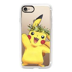 Pikachu - iPhone 7 Case, iPhone 7 Plus Case, iPhone 7 Cover, iPhone 7... ($40) ❤ liked on Polyvore featuring accessories, tech accessories, phone cases, iphone case, apple iphone case, slim iphone case, iphone cover case and iphone cases