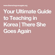 Your Ultimate Guide to Teaching in Korea | There She Goes Again