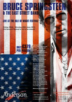 Anderson Tours Bruce Springsteen/Isle Of Wight Poster Web Design Websites, Online Web Design, Web Design Quotes, Web Design Agency, Web Design Services, Web Design Company, Web Design Black, Modern Web Design, Web Design Trends