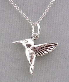 925 Sterling Silver Hummingbird Pendant Necklace Fashion Jewelry New #unbranded #pendant