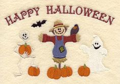 Happy Halloween Trio design (C5561) from www.Emblibrary.com