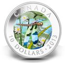 The Canada Mint has a new series of collectible silver coins featuring the dragonflies of Canada.