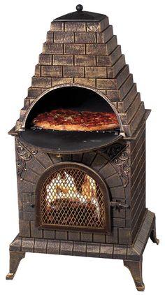 Deeco Aztec Allure Cast Iron Pizza Oven Outdoor Fireplace & Reviews | Wayfair $509.00