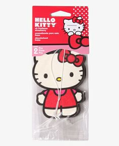 Licensed Hello Kitty Air Freshener 2 Pack Strawberry Scent - RED Ribbon