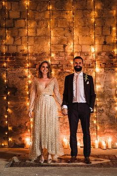 A September Barn Wedding With Lots of Festoon & Fairylights for a Creative Bride in a Gold Sequin Dress | Love My Dress® UK Wedding Blog + Wedding Directory