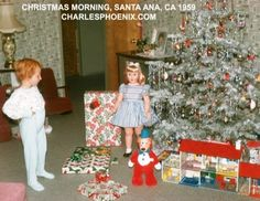 Christmas morning 1959 vintage photo - Central Valley, CA