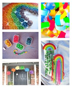 RainbOw ideas Rainbow Parties, Rainbow Birthday Party, Rainbow Theme, Rainbow Baby, 2nd Birthday Parties, Crafts To Make, Crafts For Kids, Arts And Crafts, Diy Crafts