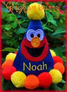 Personalized ELMO Birthday Party Hat You choose by ginghambunny, $25.99