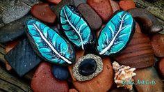 #YuliaArtDots #seatreasures #seaclay #feathers #turquoise #dots #pebbles #rocks #stones #seashell #sea #mood #nature #myart #