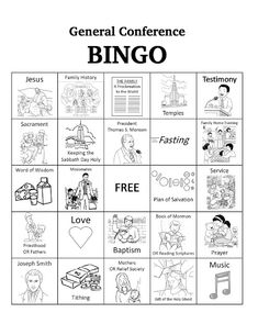 Bits Of Everything: Free Download: General Conference BINGO