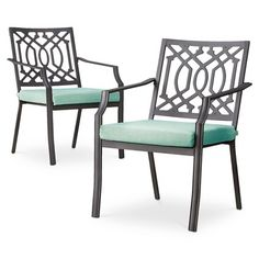 Threshold™ Harper 2-Piece Metal Patio Dining Chair Set