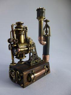 """Steam Station"" table lighter # Толи паровоз, толи подводная лодка, но штукенция классная!"