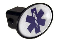EMS Star of Life Trailer Hitch Cover