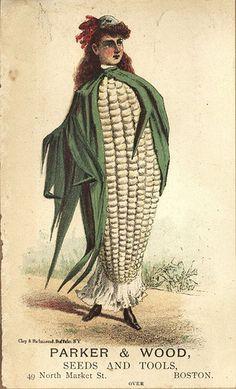 Corn lady trade card