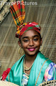 Belize- Young girl in traditional costume