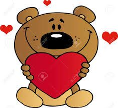 Image result for bear holding a heart