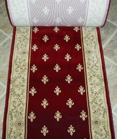 "144682 - Rug Depot Traditional Oriental Stair Runner - 26"" Wide Hallrunner - Concord Global Imerpial Fleur De Lis 1240 Red  -  ********ORDER THE LENGTH OF YOUR RUNNER IN FOOTAGE IN THE QUANTITY TAB - EACH QUANTITY EQUALS 1 FOOT******** - Red Background - Hallway and Stairrunner ON SALE - FREE Serging Applied on All Lengths - Stairrunner is Machine-Made of 100% Polypropelene - 1 Million.... $16.06. To preview this runner with a color swatch, call Customer Servic..."