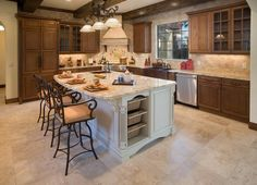 Tuscan Kitchen with Corner Stove - 99 Beautiful Kitchen Island Design Ideas on HGTV