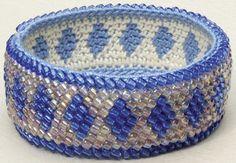 Bead Tapestry Crochet Diamond Bracelet by tapestrycrochet ~ pattern via ravelry