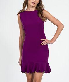 Loving this Cyclamen Ruffle-Hem Drop-Waist Dress on #zulily! #zulilyfinds