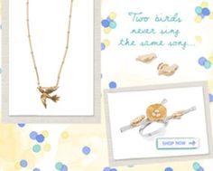 Two birds never sing the same song. #jewelry #chloeandisabel #birds