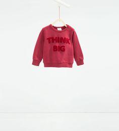 """Think big"" sweatshirt-New this week-Baby boy | 3 months - 3 years-COLLECTION SS16 | ZARA United States"