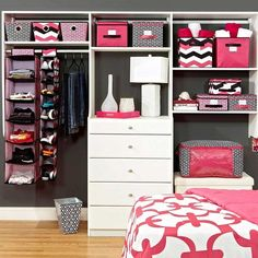 Organize your #college #dorm room Mine will look like this. For sure. Pink and neutral colors. Well at least my half.