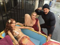 Lindy Booth, Rebecca Romijn and Christian Kane.