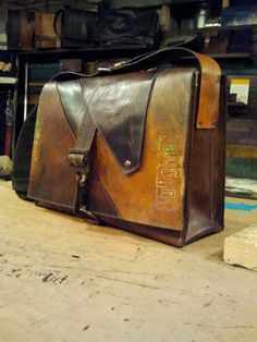 fullgive leather messenger bag.....the prodigal. $311.00, via Etsy.