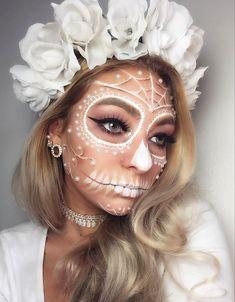 Halloween Jeweled Skull Crown Headband Felt Backed Foam Skull Pattern Headband
