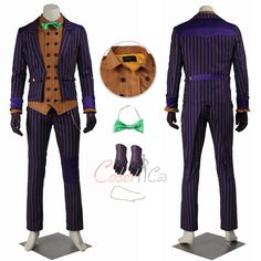 Item Number:gmark005, Joker Costume Batman: Arkham Knight Cosplay For Halloween online sale! Buy great D-C and Mar-vel costumes for Halloween.