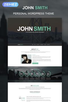 If you've been looking into Internet Marketing or making money online for any amount of time. Wordpress Theme Design, Premium Wordpress Themes, Cv Website, Online Cv, Personal Resume, Resume Work, Web Design Software, Hosting Company, Website Design Inspiration