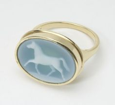 Laura Lee Horse Ring Cameo