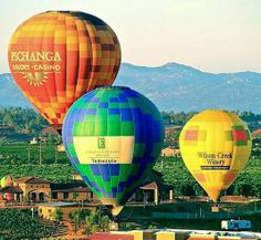 Watch the Southern California sunset by hot air balloon! hot air balloons