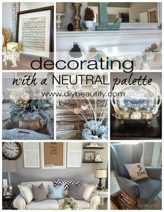 Decorating with a Neutral Palette DIY beautify