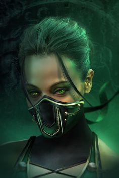Zoe Saldana as Jade from Mortal Kombat Jade Mortal Kombat, Mortal Kombat Games, Mortal Kombat Art, Mortal Kombat X Wallpapers, Wallpapers En Hd, Johnny Cage, Terry Crews, Mileena, Shadow Warrior