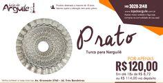 Prato Turco para Narguilé POR APENAS R$ 120,00 Em até 18x de R$ 8,72 ou R$ 114,00 via depósito http://www.lojadoarguile.com.br/prato-turco-para-narguile