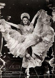 Egyptian-born singer, dancer and actress of Hungarian descent Marika Rökk (1913 - 2004)