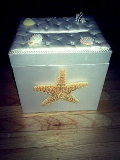destination wedding card box... just hot glue some seashells for a beachy theme